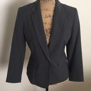 Nine West Women's Blazer Gray sz 4 suit jacket